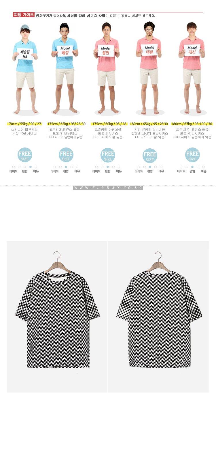 flyday韩国进口男装正品代购燕子印花宽松短袖t恤140708-22